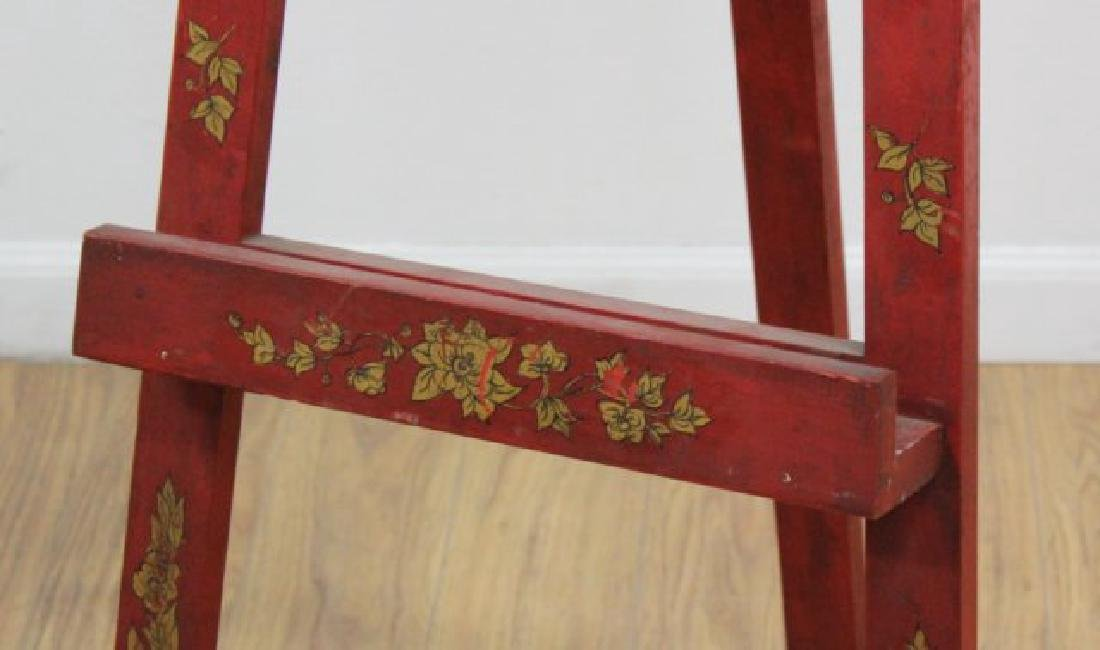 Venetian Style Floral Red & Gold Easel - 3