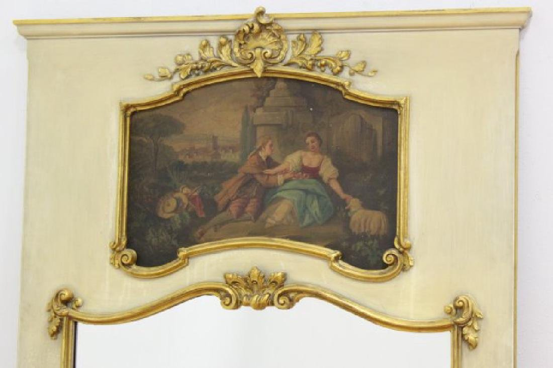 Paint Decorated Trumeau Mirror - 2