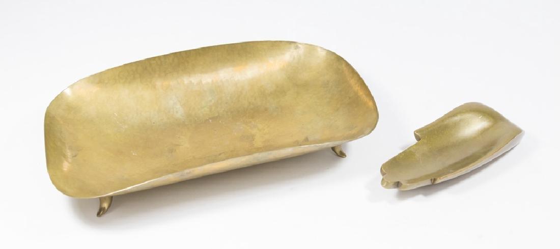 Hagenauer Footed Tray & Bronze Card Tray