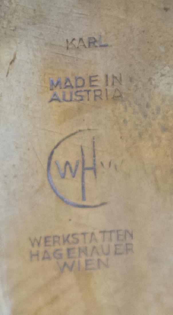 Hagenauer Footed Tray & Bronze Card Tray - 4