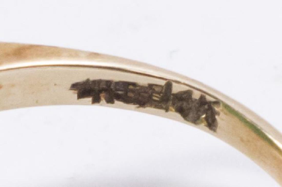 :2-14K Yellow Gold & Jade Rings - 4