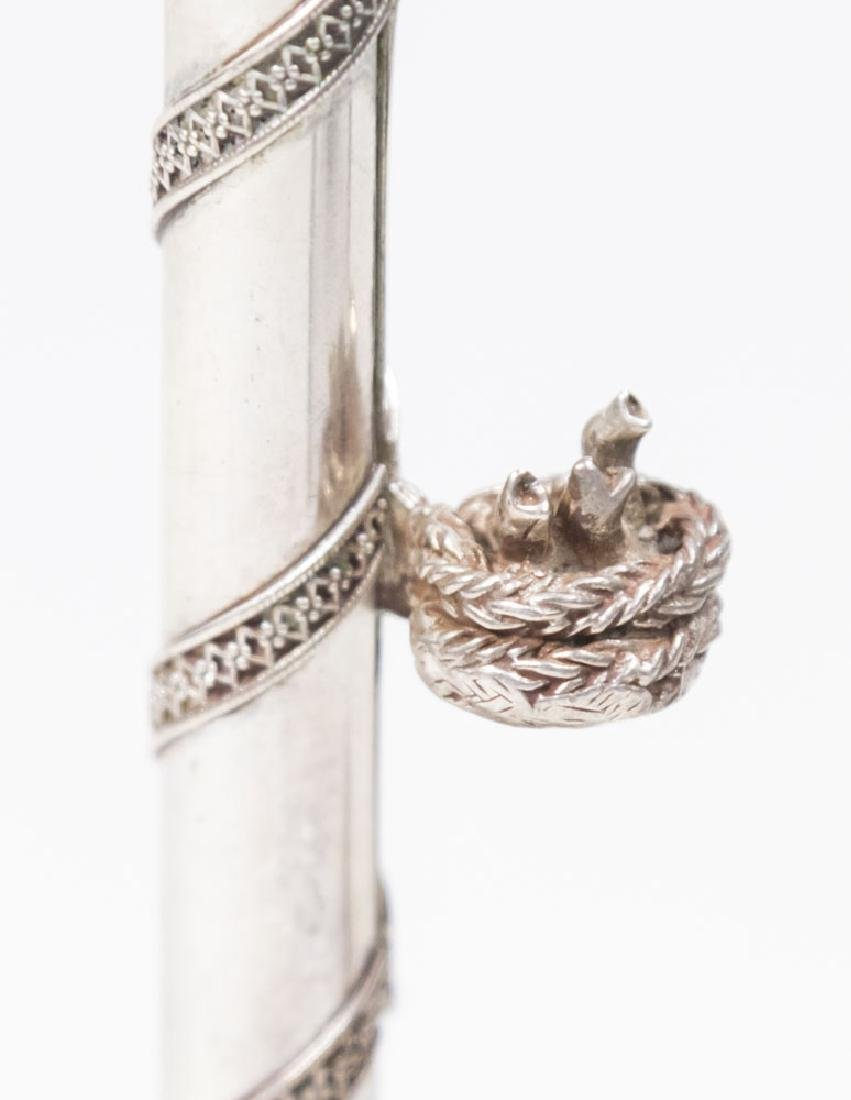 925 Silver Candle Holder - 3