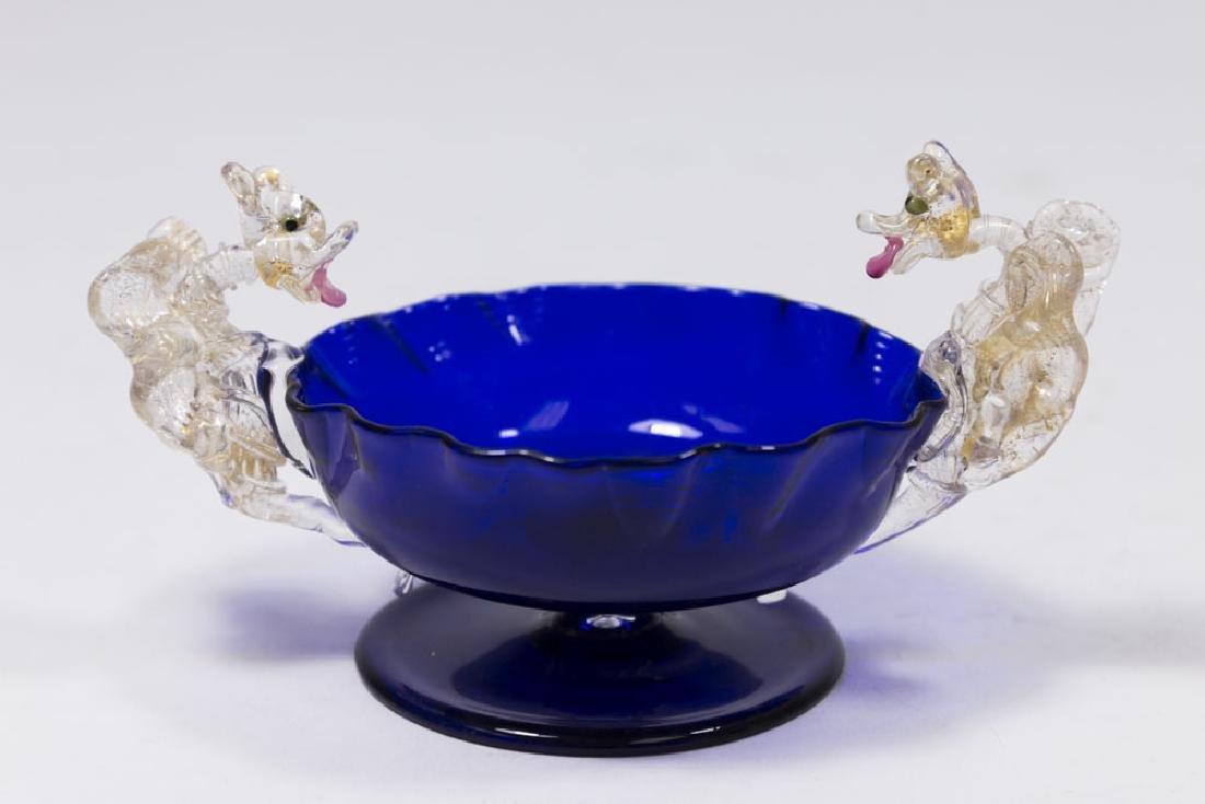 5 Venetian Gilt & Enameled Colored Glass Salts - 2