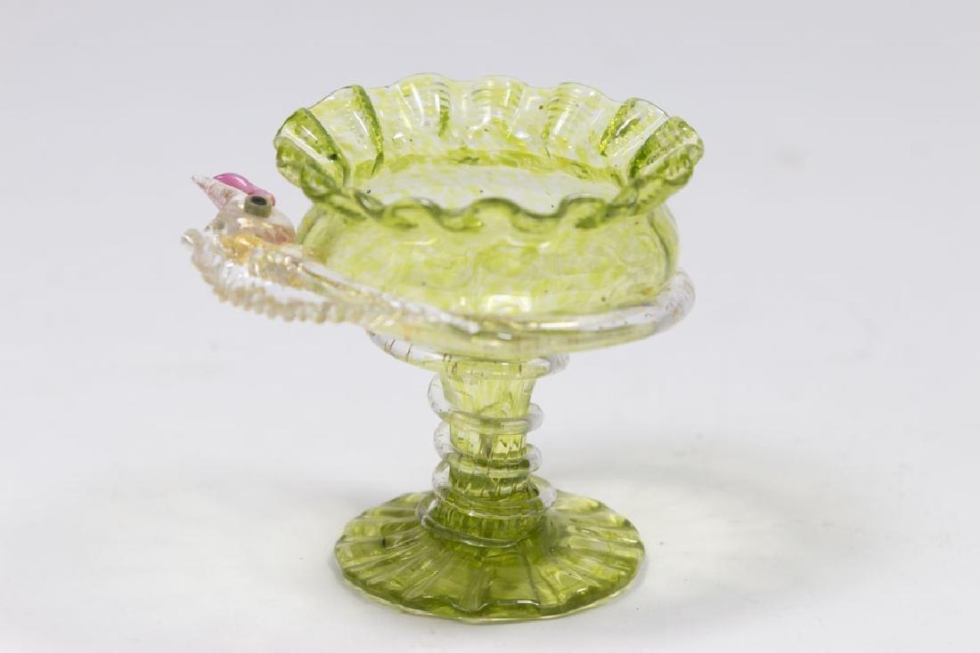 5 Venetian Gilt & Enameled Colored Glass Salts - 3
