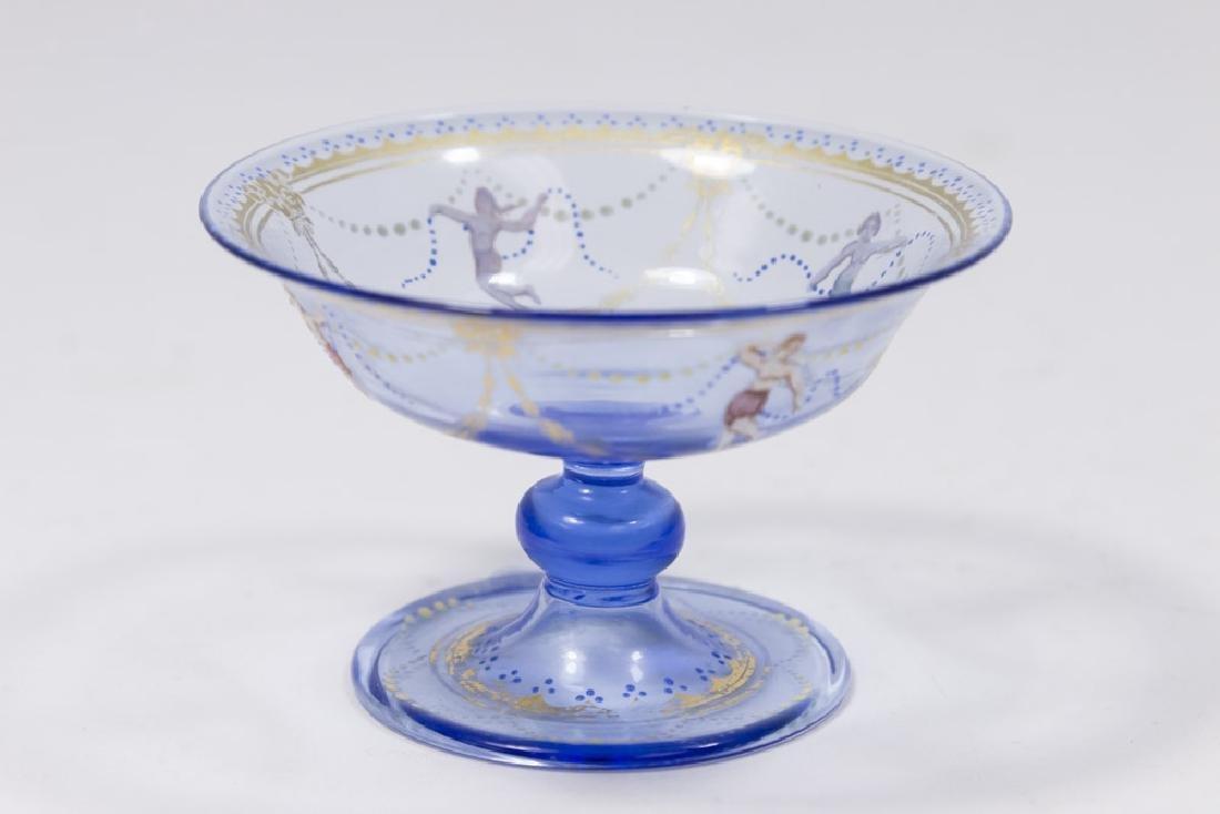 5 Venetian Gilt & Enameled Colored Glass Salts - 5