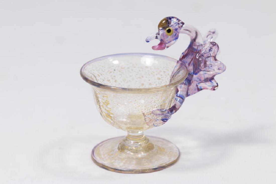 5 Venetian Gilt & Enameled Colored Glass Salts - 6