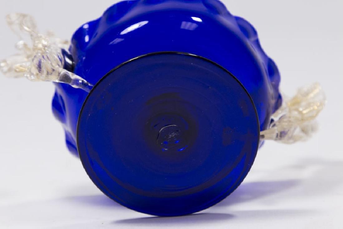 5 Venetian Gilt & Enameled Colored Glass Salts - 7