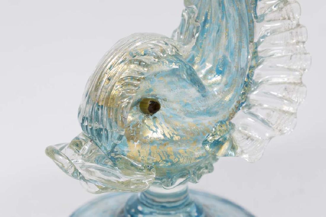 Venetian Gilt Turquoise Glass Dolphin Ewer - 2