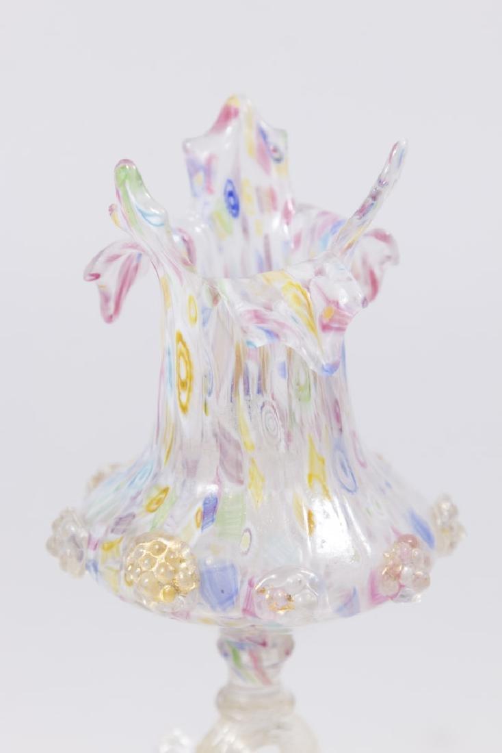 Venetian Gilt Mottled Millefiori Glass Vase - 2