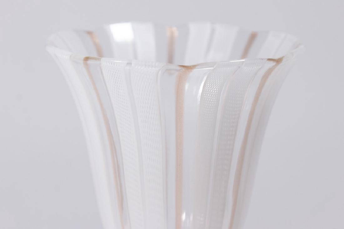 2 Venetian Swirl Colored Glass Goblets - 3