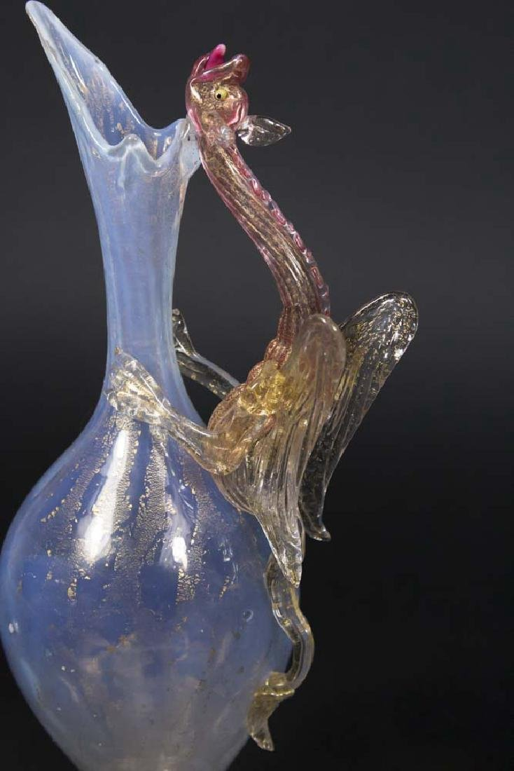 Venetian Gilt Opaline Glass Dragon Ewer - 2