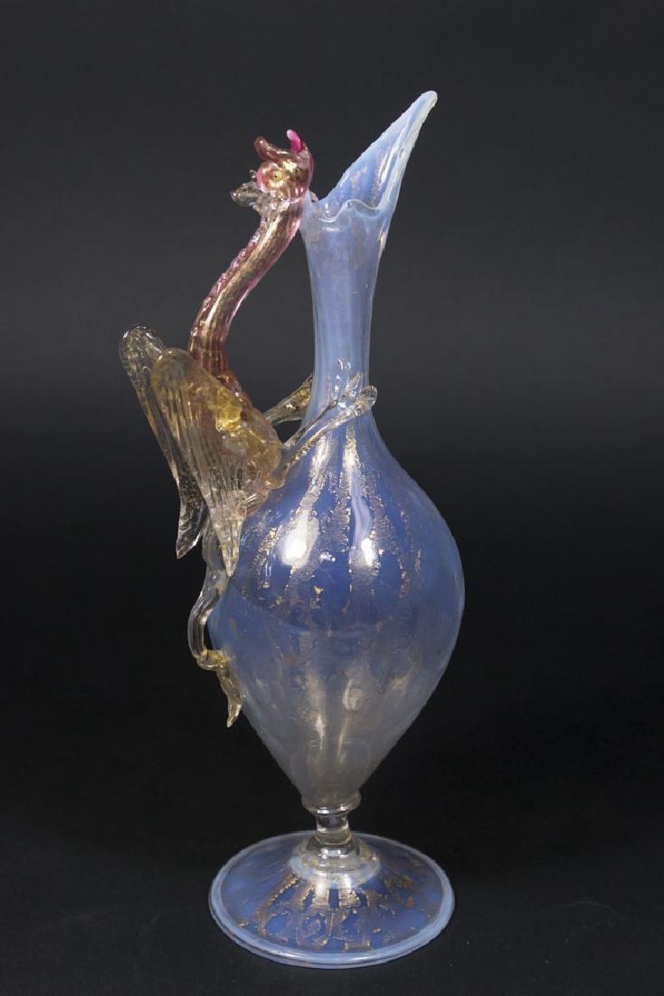 Venetian Gilt Opaline Glass Dragon Ewer - 5