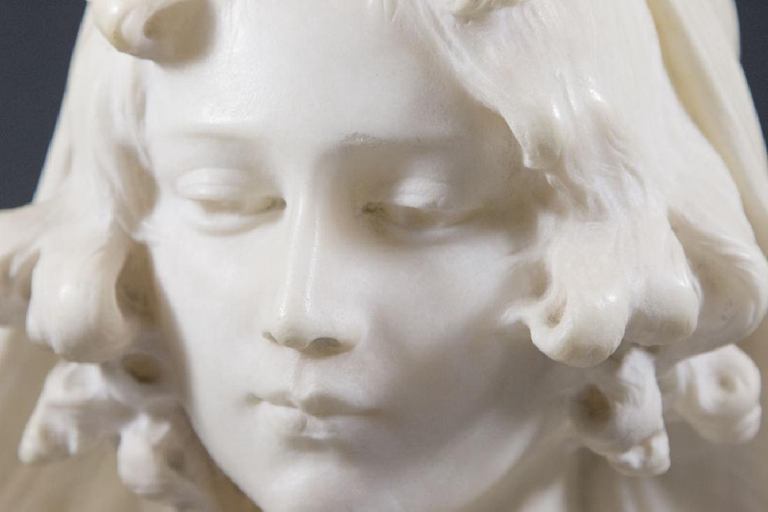 Alabaster Bust of Lady, Giovanni Pochini - 2