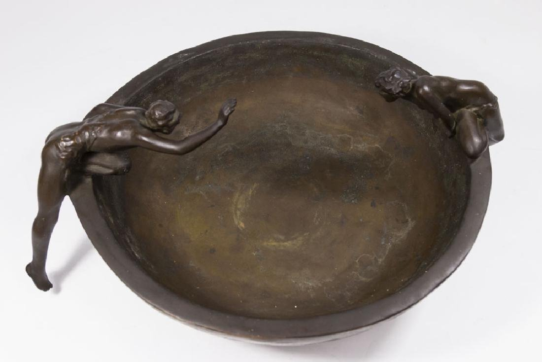 Clio Bracken Bronze Figural Center Bowl - 2