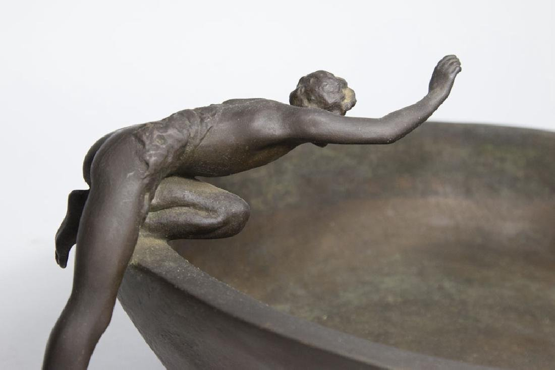 Clio Bracken Bronze Figural Center Bowl - 4