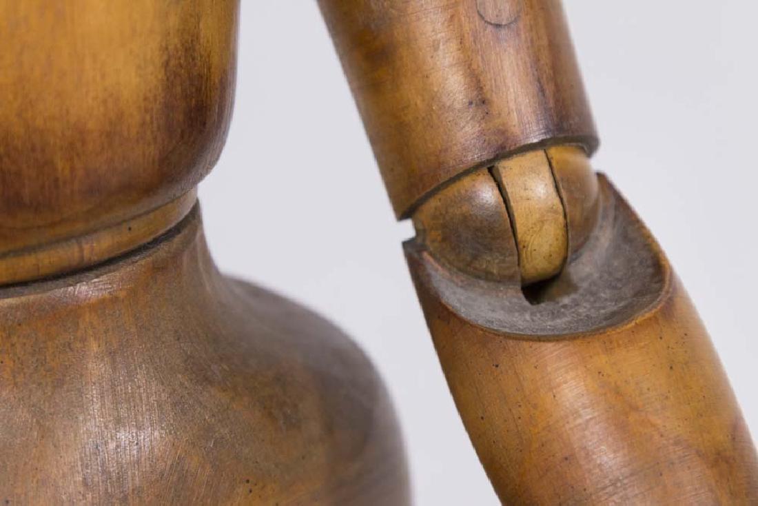 Vintage Articulated Wooden Female Mannequin - 5