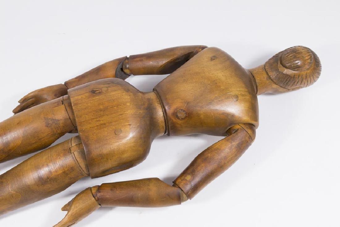 Vintage Articulated Wooden Female Mannequin - 6