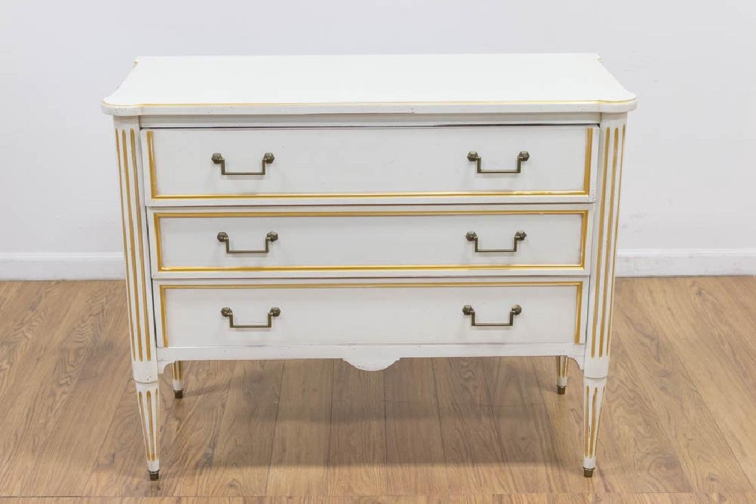 Louis XVI Style White Painted Commode