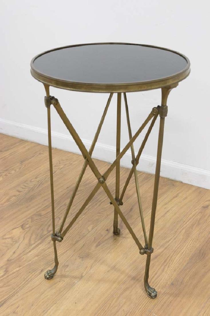 French Style Bronze & Black Marble Gueridon
