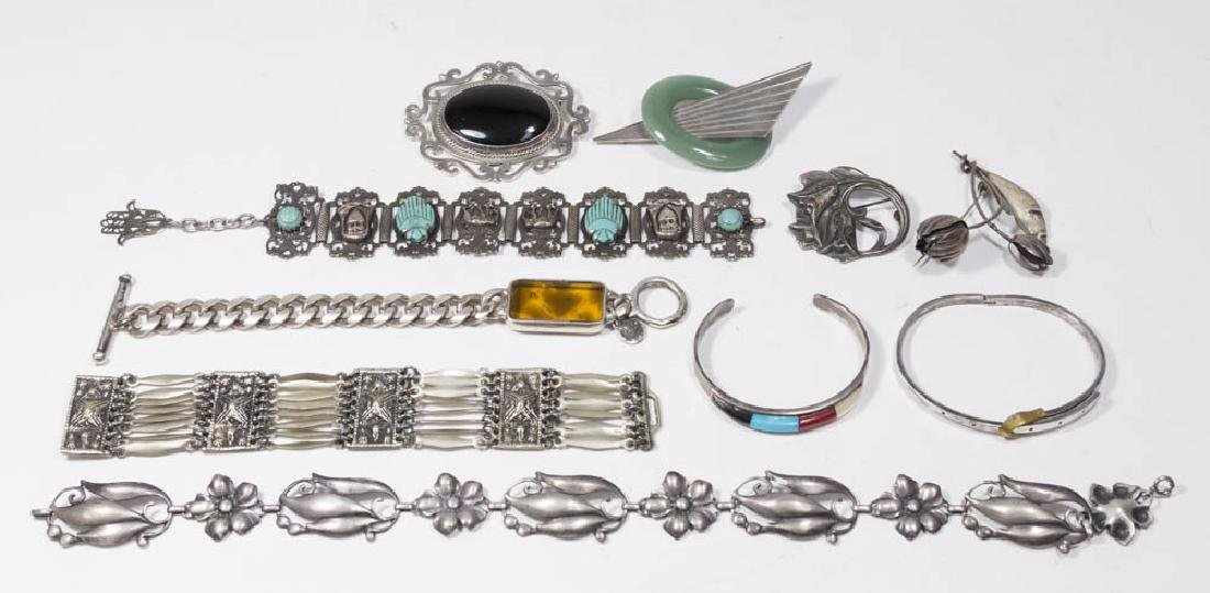 10 Pieces Vintage Sterling Silver Jewelry