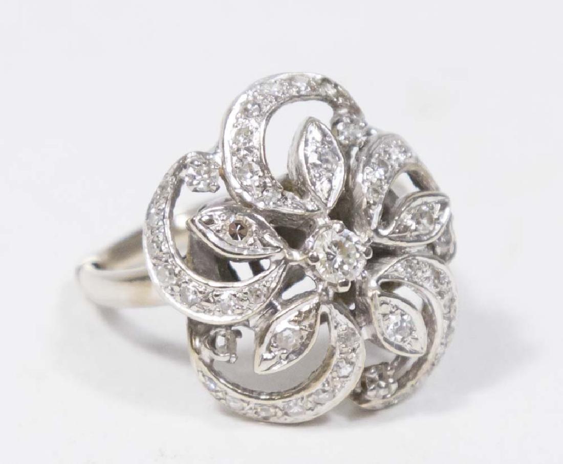Ladies 14K White Gold & Diamond Ring
