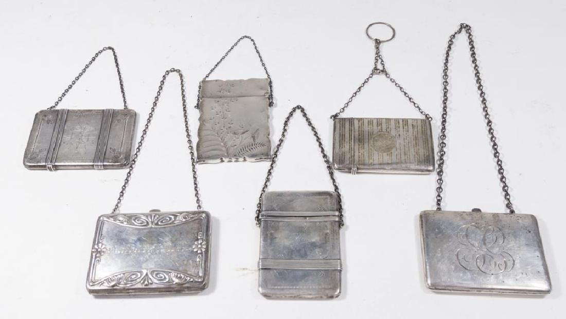 Lot of 6 Sterling Silver Card Cases