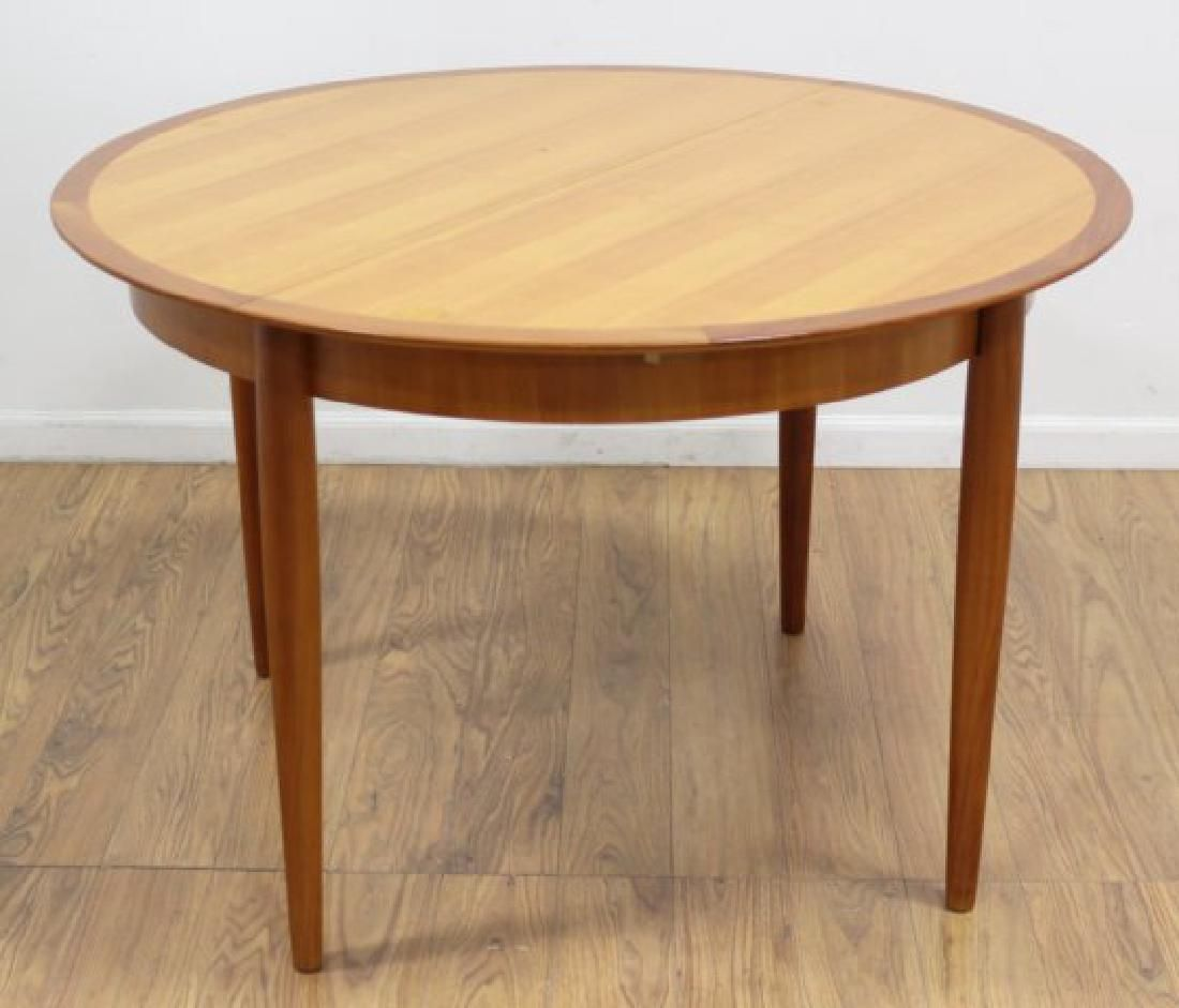 Danish Modern Banded Dining Room Table