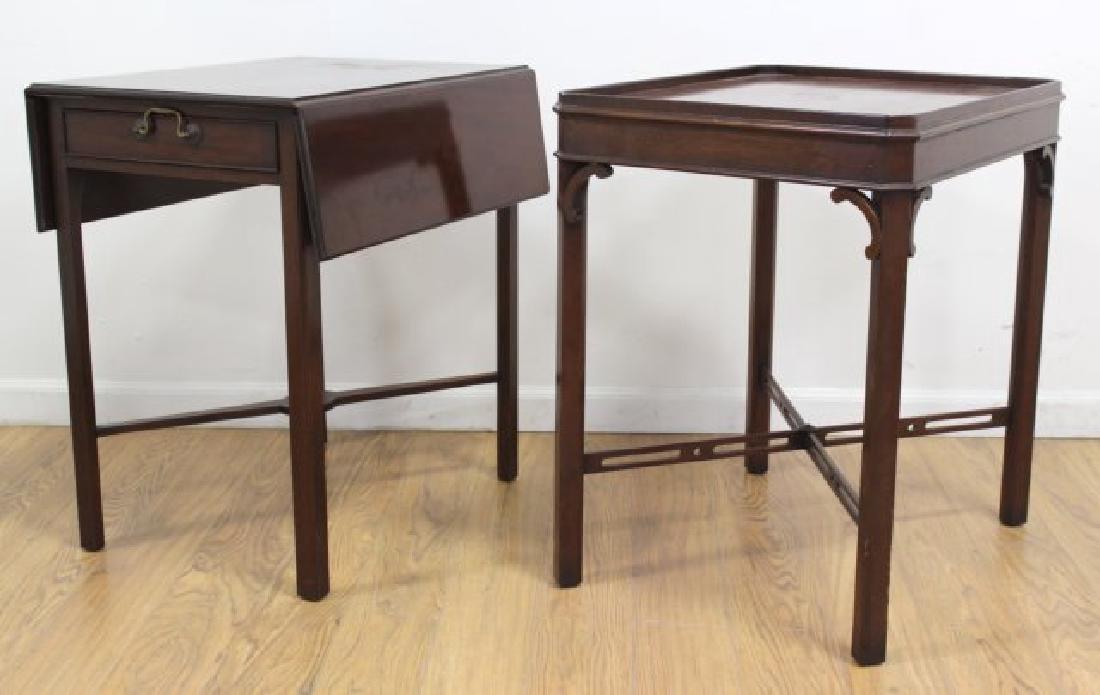 Custom made english style mahogany lamp tables 2 custom made english style mahogany lamp tables geotapseo Gallery