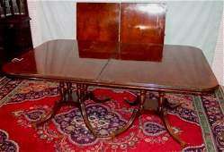 57: ROSEWOOD BANDED DINING ROOM TABLE