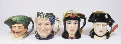 Lot of 4 Large Toby Mugs by Royal Doulton