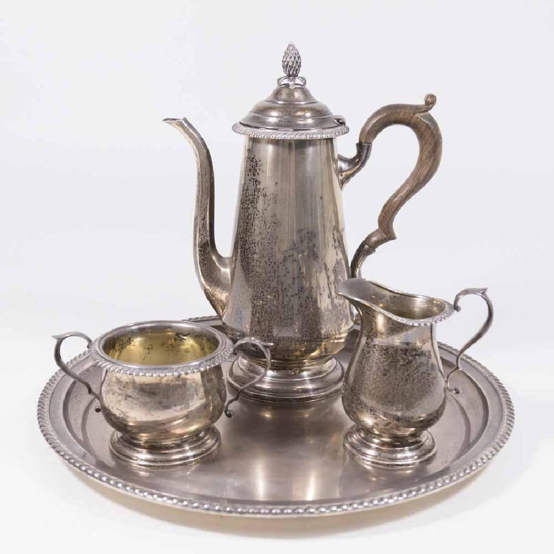 4 Pcs Sterling Silver Tea Set