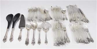 Wallace Sterling Silver Grand Baroque Flatware set