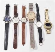 Lot of 6 Vintage Men's Wrist Watches