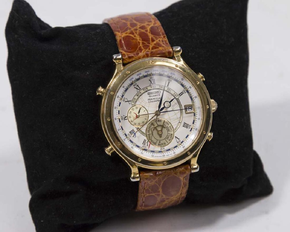 Seiko Perpetual Calendar.Seiko Perpetual Calendar Quartz Men S Wrist Watch