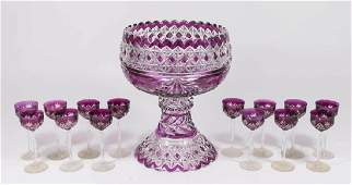 Purple Cut-to-Clear 2-Piece Punch Bowl