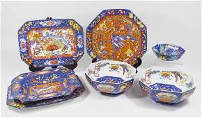 7 Herms Marqueterie Porcelain Serving Pieces