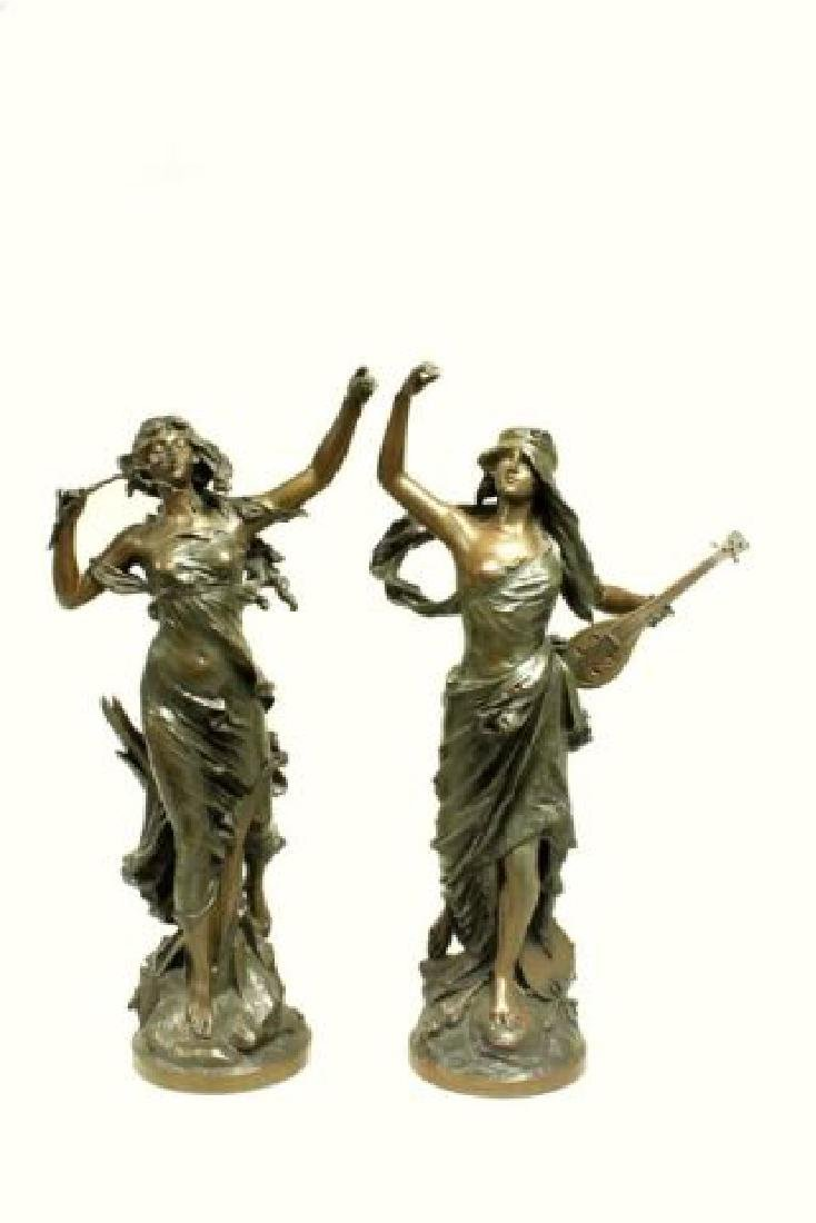 :Pair of Bronze Figures by Edouard Drouot
