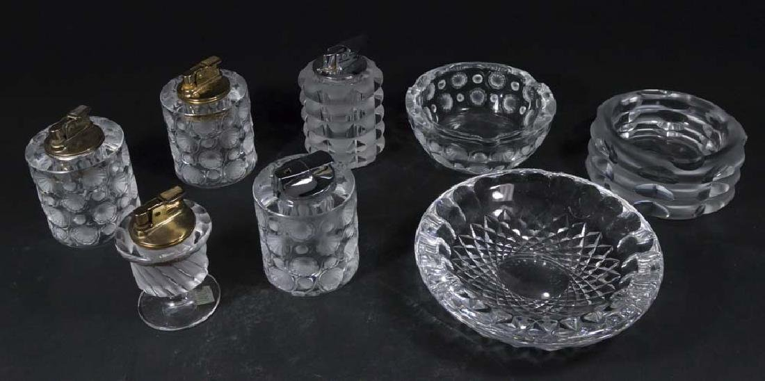 Lot of Lalique & Rosenthal Glass Lighters