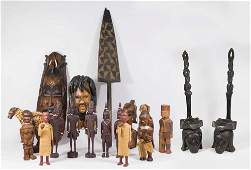 Lot of Carved African Wood Sculptures