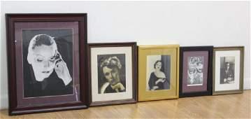 Group Lot 5 Portraits, Photos & Prints