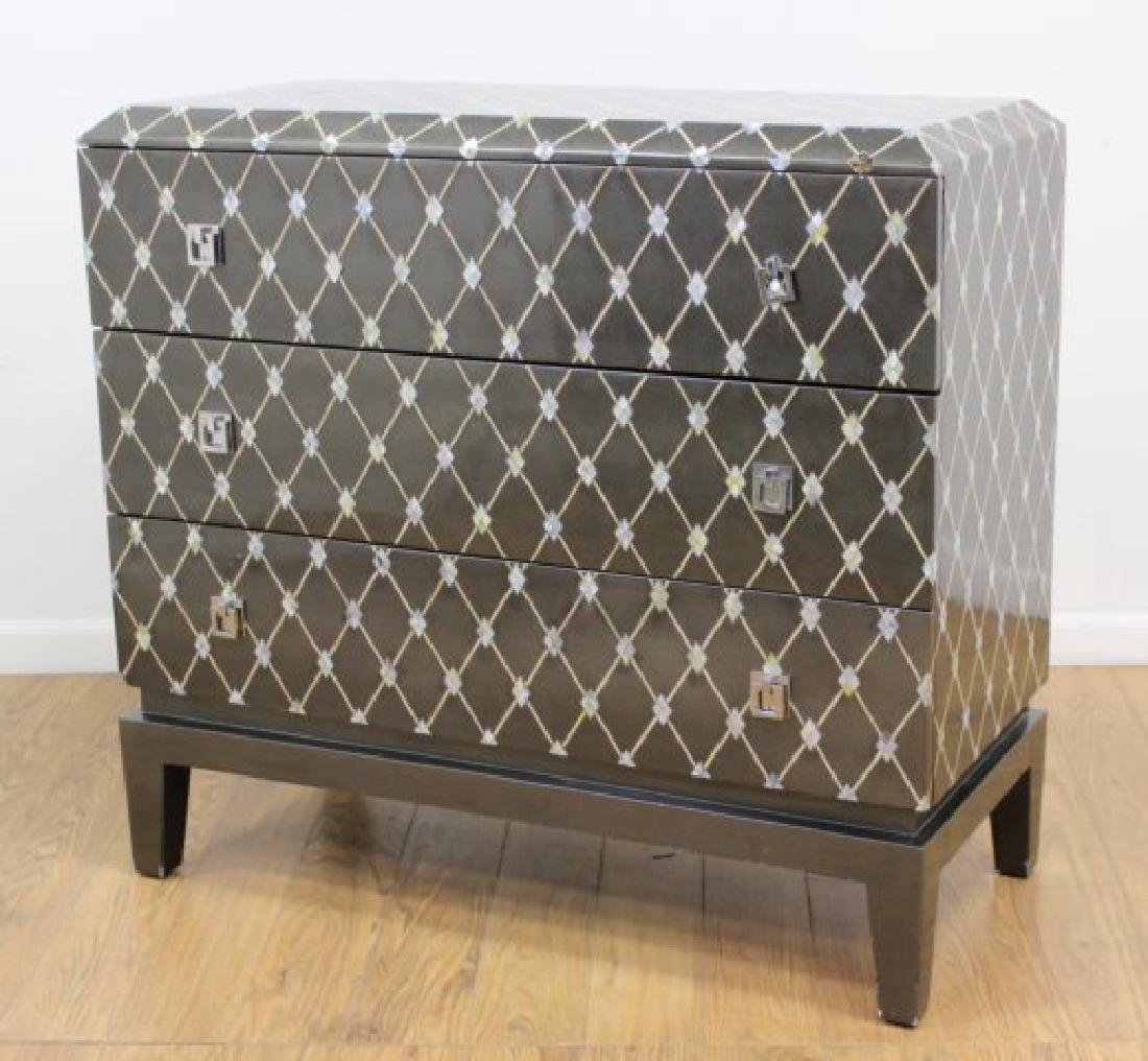 Mother of Pearl Inlaid Lacquered Chest