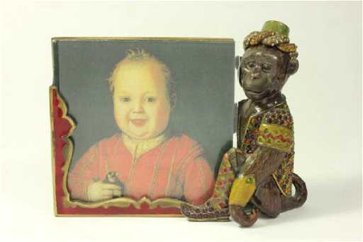 Jay Strongwater Enamel & Jeweled Monkey Frame