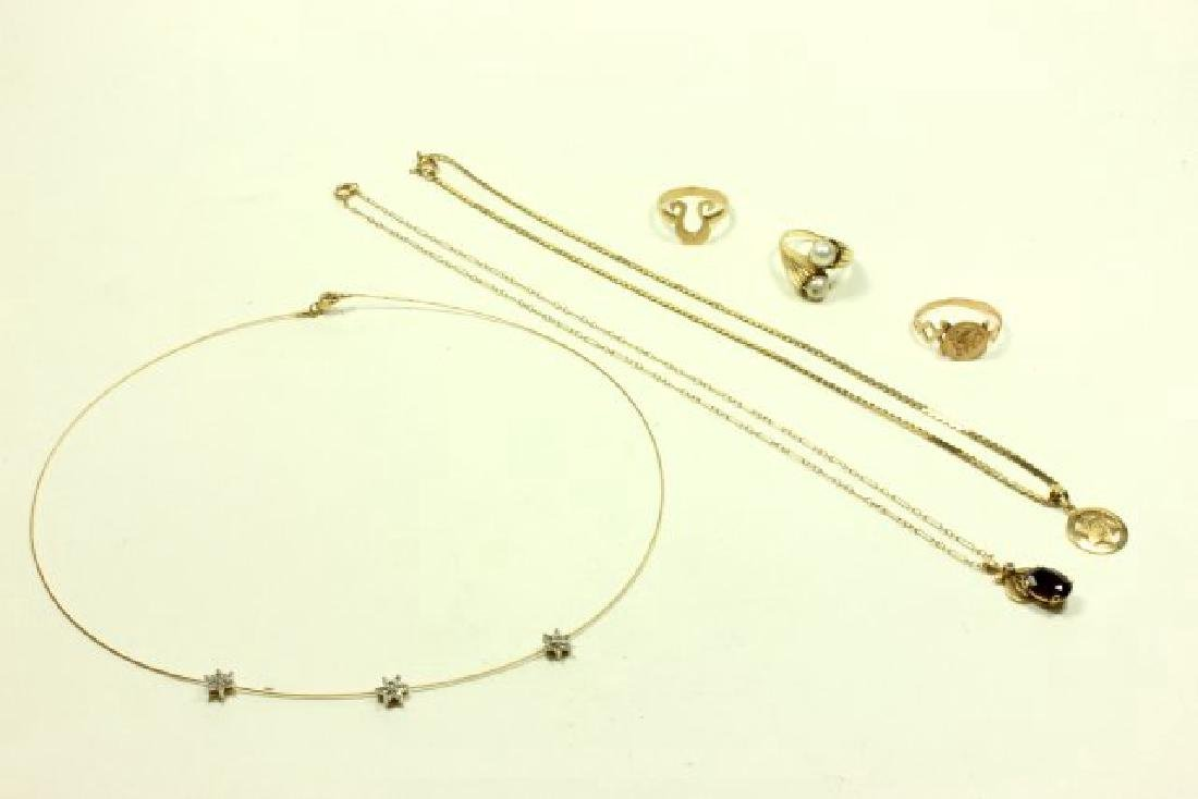 Lot 14K Gold Jewelry