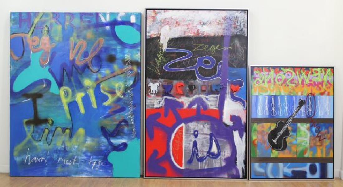 3 Contemporary Oil Paintings