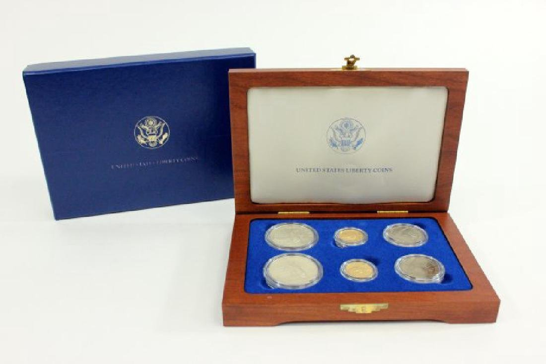 1986 US Statue of Liberty 6 Coin Gold & Silver Set