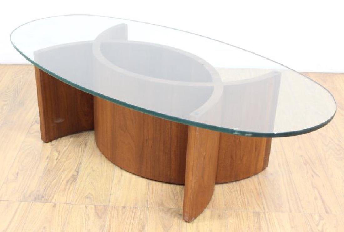 Mid-Century Modern Sculptural Walnut Coffee Table