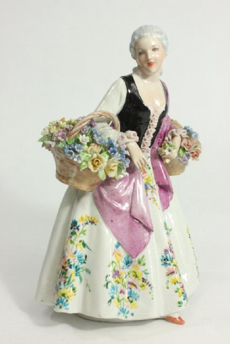 5 Dresden Style Porcelain Figures with Grouping - 5