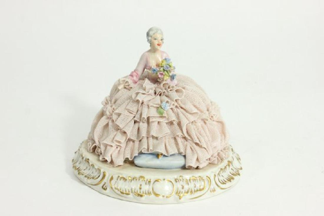 5 Dresden Style Porcelain Figures with Grouping - 6