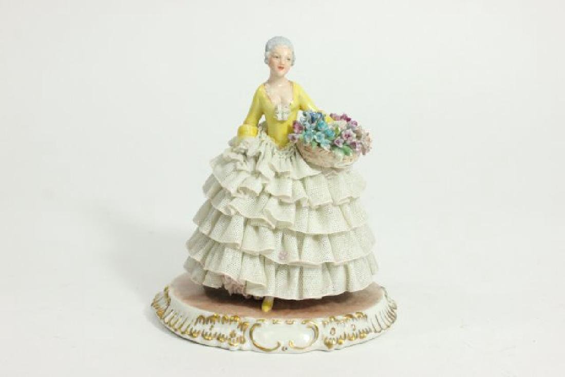 5 Dresden Style Porcelain Figures with Grouping - 8