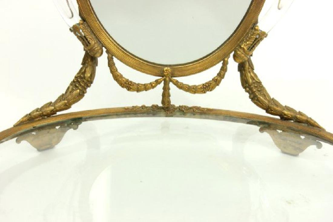 Brass Vanity Tray with Mirror - 5